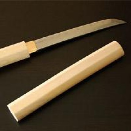 Wooden tanto with metal blade