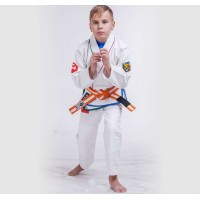 Twister White BJJ Gi For Kids