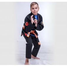 Twister Black BJJ Gi For Kids